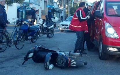 Motociclistas con doble fractura