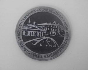 Lanzan la medalla de los 100 años de Villa María como ciudad