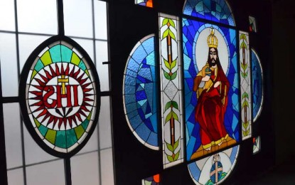 Vitrales en la capilla Cristo Rey