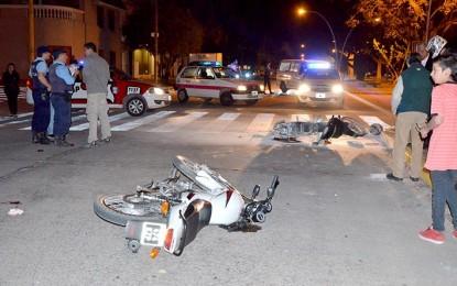 Nueve motociclistas lesionados en dos caídas y cuatro choques
