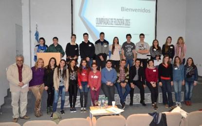 Olimpíada de Filosofía convocó a estudiantes de la región