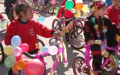 Tradicional bicicleteada
