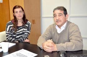 Verónica Di Mateo, secretaria, y el director de la institución, Hugo Monje, quienes adelantaron las novedades