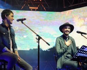 Fabricio cantó con Abel