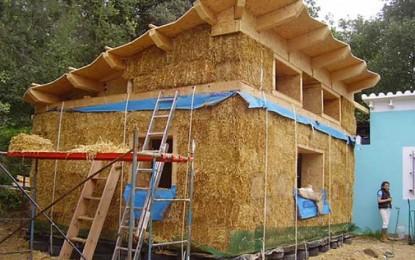 Construir con paja el sueño de la casa propia