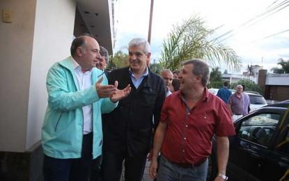 Domínguez en campaña por Scioli