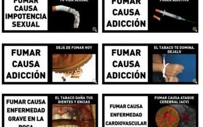 Renuevan imágenes de advertencias sanitarias en los productos del tabaco