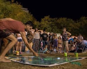 Artistas locales lograron vender 30 obras en el recorrido peñero