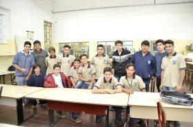 Estudiantes del IPET 49 compartiendo una de las jornadas