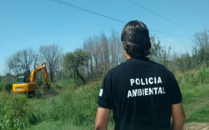 Policía Ambiental inició tareas para tapar canales clandestinos