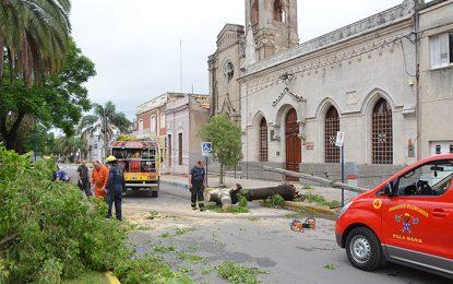 La tormenta causó daños y hubo evacuados