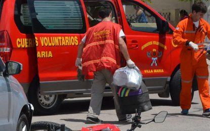 Ocho heridos en Villa María y dos en la zona por accidentes