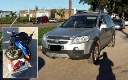 Cuatro choques entre autos y motos y un niño lesionado por una bicicleta