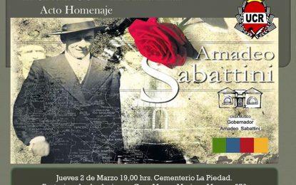 Homenajearán a Amadeo Sabattini