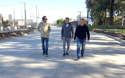 Habilitan la pavimentación de la prolongación del bulevar Alvear