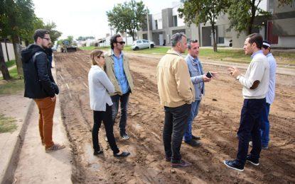 Comenzaron las obras para la pavimentación de la calle Marcos Juárez
