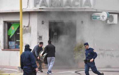 Fuego en una farmacia