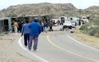 Dieciocho muertos al volcar un colectivo en Mendoza
