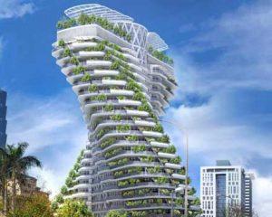 Un edificio que se alimenta de CO2