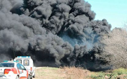 Gigante incendio en Las Varillas