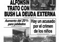 Deuda externa argentina: en la vuelta a la democracia