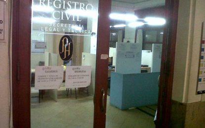 El Registro Civil abrirá sus puertas hoy y mañana