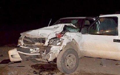 Murió un hombre al chocar una pick up y una máquina vial