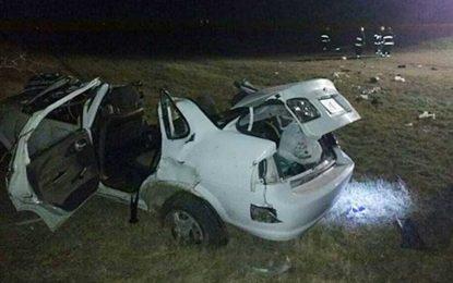 Un muerto y cuatro lesionados tras despistar un vehículo en la autopista