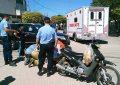 Motociclista herida al chocar en Hernando