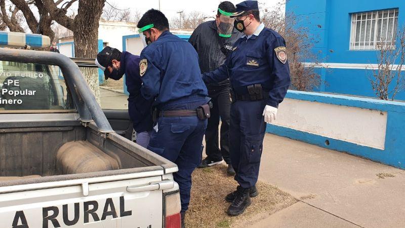 Un detenido acusado de causar el incendio en campos de Silvio Pellico