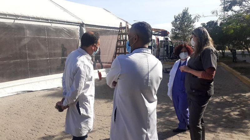 El Hospital Pasteur contará con una carpa sanitaria