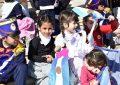 Los niños y niñas fueron protagonistas en el homenaje al General San Martín